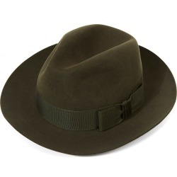 Knightsbridge Fedora Hat - Green-Elm Forest in size 62 found on Bargain Bro UK from christys-hats.com