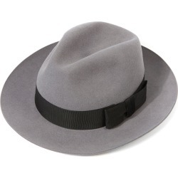 Knightsbridge Fedora Hat - Grey Silver in size 60 found on Bargain Bro UK from christys-hats.com