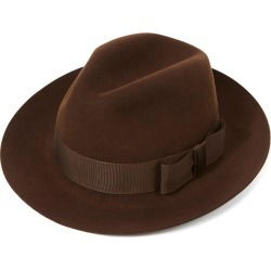 Knightsbridge Fedora Hat - Brown-Sable in size 61 found on Bargain Bro UK from christys-hats.com