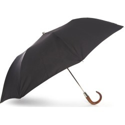 Ladies Auto Open Folding Umbrella with Scorched Maple Crook Handle found on Bargain Bro UK from christys-hats.com