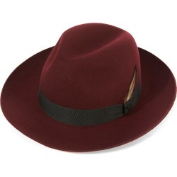 Grosvenor Fedora Hat - Maroon in size 57 found on Bargain Bro UK from christys-hats.com