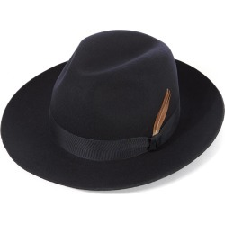 Grosvenor Fedora Hat - DBLUE-Navy in size 58 found on Bargain Bro UK from christys-hats.com