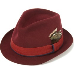 Hove Snap Brim Trilby Red Wine in Size 61 found on Bargain Bro UK from christys-hats.com