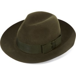 Christys' Classic Fedora Hat - Green-Elm Forest in size 59 found on Bargain Bro UK from christys-hats.com
