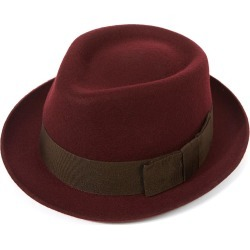 Whitstable Trilby Hat - Maroon in size 57 found on Bargain Bro UK from christys-hats.com