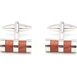 Small Wood And Rhodium Cufflinks found on MODAPINS from christys-hats.com for USD $36.92
