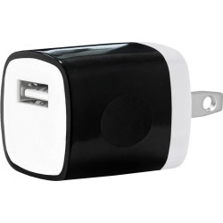 USB Home Wall Charger Travel Adapter for iOS and Android Mobile Devices, Black