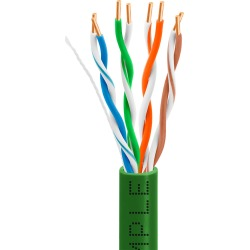 CMPLE Cat5e Gigabit Ethernet Cable Network Bulk Unshielded Twisted Pair (UTP), Solid 24AWG CMR 350 MHz, 1000 Feet Green