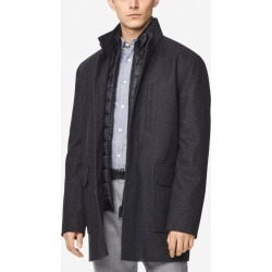 Cole Haan Men's Melton Wool 3-in-1 Coat