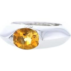 Piaget bague en or blanc, citrine et diamant