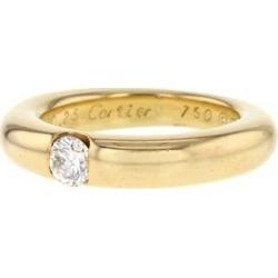 Bague jonc époque années 90 en or jaune et diamant