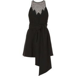 SAINT LAURENT BELTED MINI DRESS 38 Black Wool, Silk found on Bargain Bro India from Coltorti Boutique US for $1574.65