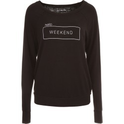 GOOD H YOUMAN BOAT NECK SWEATSHIRT M Black found on Bargain Bro Philippines from Coltorti Boutique for $50.21