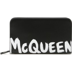 ALEXANDER MCQUEEN LOGO ZIP-AROUND WALLET OS Black, White Leather found on Bargain Bro India from Coltorti Boutique AU for $474.00