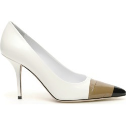 BURBERRY ANNALISE PUMPS 39 White, Brown, Black Leather found on Bargain Bro Philippines from Coltorti Boutique for $321.88