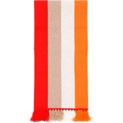 BURBERRY STRIPED LOGO SCARF OS Orange, Red, Beige Cashmere found on Bargain Bro India from Coltorti Boutique EU for $624.00