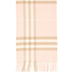 BURBERRY GIANT CHECK SCARF OS Beige, White, Pink Cashmere