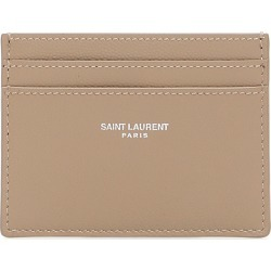 SAINT LAURENT LEATHER CARDHOLDER OS Beige Leather found on Bargain Bro India from Coltorti Boutique EU for $227.50