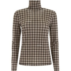 ROKH HOUNDSTOOTH TURTLENECK 38 Grey, Black, Beige found on MODAPINS from Coltorti Boutique US for USD $185.50