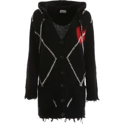 RED VALENTINO HEART INTARSIA CARDIGAN S Black, White, Red Wool found on Bargain Bro Philippines from Coltorti Boutique for $413.72