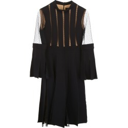 CAPUCCI PLISSé DRESS WITH LACE 42 Black found on Bargain Bro India from Coltorti Boutique US for $664.20