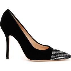 GIANVITO ROSSI CRYSTAL VELVET PUMPS 37 Black found on MODAPINS from Coltorti Boutique US for USD $494.20