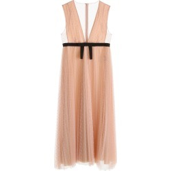 RED VALENTINO LONG PLUMETIS DRESS 42 Beige found on Bargain Bro Philippines from Coltorti Boutique for $604.67