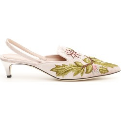 ALBERTA FERRETTI VELVET SLINGBACKS WITH EMBROIDERY 36 Pink, Green, Brown Silk found on Bargain Bro Philippines from Coltorti Boutique for $384.63