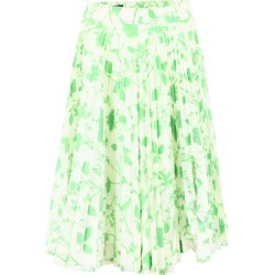 CALVIN KLEIN 205W39NYC PRINTED MIDI SKIRT 42 Green, White Technical, Silk found on Bargain Bro India from Coltorti Boutique US for $843.15