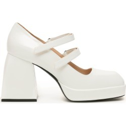 NODALETO BULLA BABIES PUMPS 38 White Leather found on MODAPINS from Coltorti Boutique US for USD $455.00