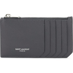 SAINT LAURENT CARD HOLDER POUCH OS Grey Leather found on Bargain Bro India from Coltorti Boutique EU for $292.50