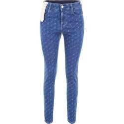 STELLA McCARTNEY ALL-OVER LOGO JEANS 28 Blue Cotton found on Bargain Bro India from Coltorti Boutique US for $192.50