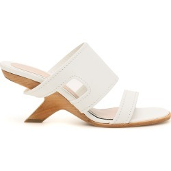 ALEXANDER MCQUEEN LEATHER MULES 37 White Leather found on MODAPINS from Coltorti Boutique US for USD $832.00