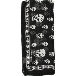 ALEXANDER MCQUEEN SKULL SILK SCARF OS Black, White Silk found on Bargain Bro Philippines from Coltorti Boutique EU for $318.50