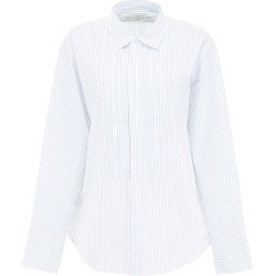 GOLDEN GOOSE STRIPED SHIRT WITH PLASTRON S White, Light blue Cotton found on Bargain Bro India from Coltorti Boutique US for $218.90