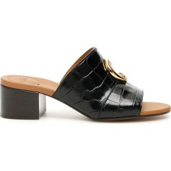 CHLOE' CROC-PRINT MULES 37 Black Leather found on MODAPINS from Coltorti Boutique EU for USD $741.00