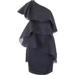 LANVIN RUFFLED DRESS 36 Blue Silk found on Bargain Bro India from Coltorti Boutique US for $1311.20