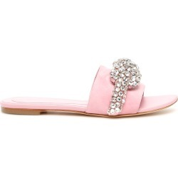 ALEXANDER MCQUEEN CRYSTAL KNOT MULES 36 Pink Leather found on Bargain Bro Philippines from Coltorti Boutique for $991.12