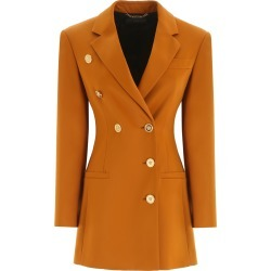 VERSACE DOUBLE-BREASTED BLAZER 38 Brown, Yellow found on MODAPINS from Coltorti Boutique EU for USD $1521.00
