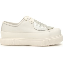 BOTH CLASSIC PLATFORM SHOES 38 White, Silver Leather found on Bargain Bro Philippines from Coltorti Boutique for $213.22