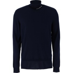 BALMAIN TURTLENECK WITH LOGO INTARSIA M Blue Wool found on MODAPINS from Coltorti Boutique AU for USD $607.50