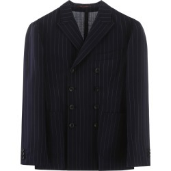 THE GIGI ZIGGY DOUBLE-BREASTED BLAZER 46 Blue, Grey Wool found on MODAPINS from Coltorti Boutique US for USD $282.60