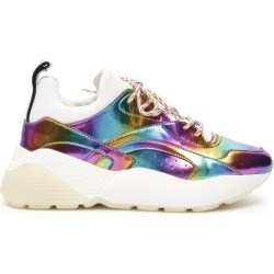 STELLA McCARTNEY MULTICOLOR ECLYPSE SNEAKERS 35 Purple, Light blue, Orange Faux leather, Technical found on Bargain Bro Philippines from Coltorti Boutique for $270.05