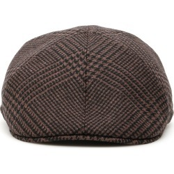 TAGLIATORE TARTAN DONALD FLAT CAP 60 Brown, Black Wool found on Bargain Bro Philippines from Coltorti Boutique EU for $100.09
