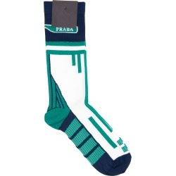 PRADA TECHNO NYLON SOCKS S Blue, White, Green Technical found on Bargain Bro Philippines from Coltorti Boutique EU for $195.00