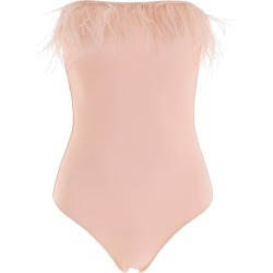 OSÉREE SWIMSUIT WITH FEATHERS M Pink
