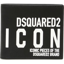 DSQUARED2 ICON LOGO BI-FOLD WALLET OS Black Leather found on Bargain Bro India from Coltorti Boutique AU for $208.00