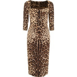 DOLCE & GABBANA LEOPARD-PRINTED DRESS 40 Brown, Black found on Bargain Bro India from Coltorti Boutique US for $974.05