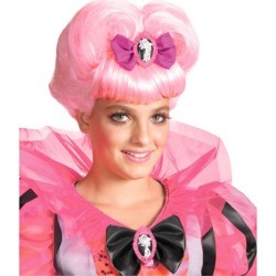 Pink Heart Wig Girls Halloween Costume Accessory