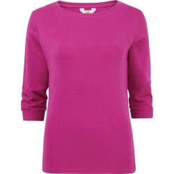Cotton Traders Women's Wrinkle Free Boat Neck Top in Pink found on Bargain Bro UK from Cotton Traders